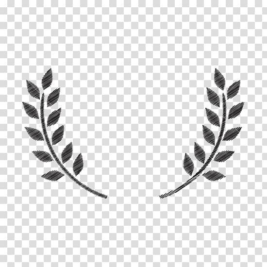 Two black leaves illustration, Olive branch , olive leaf.