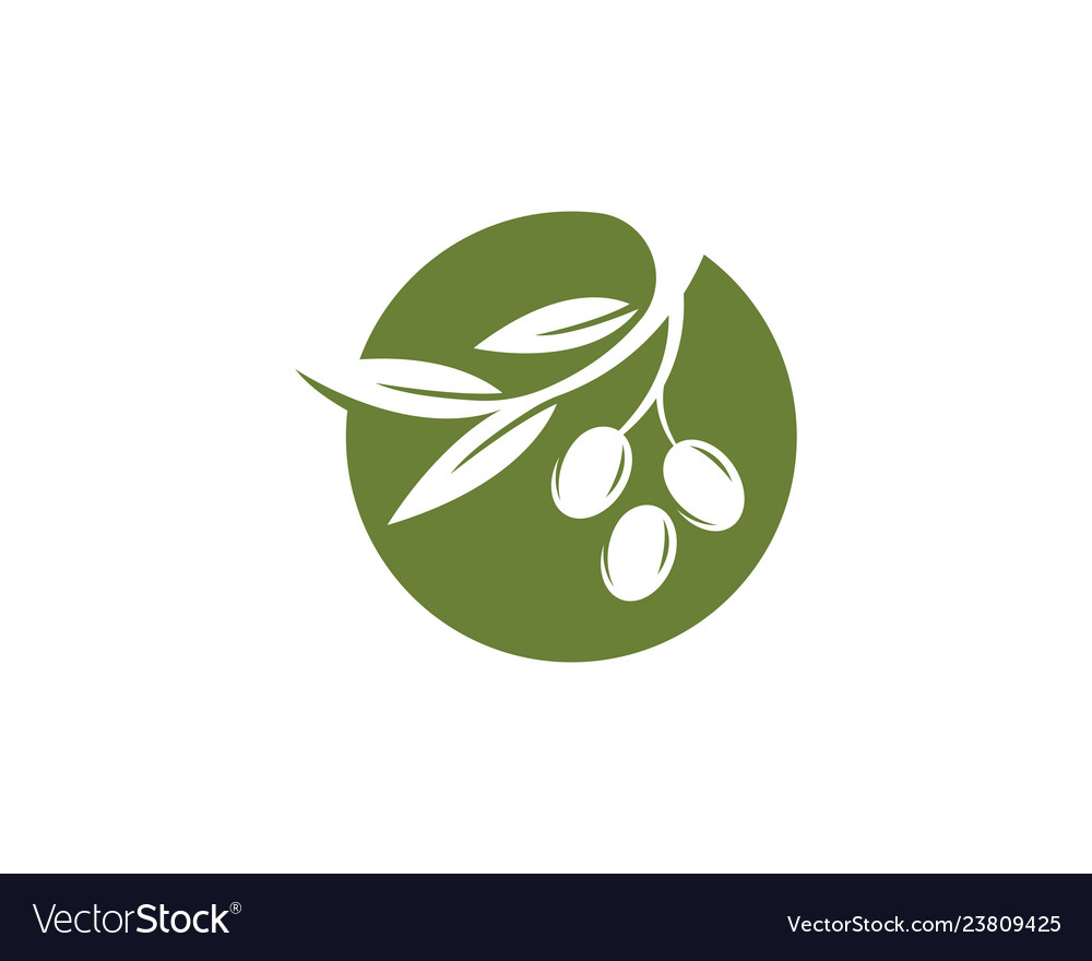 Olive logo template icon.
