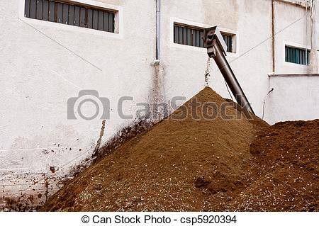 Stock Photo of Olive Mill Waste: Orujo.