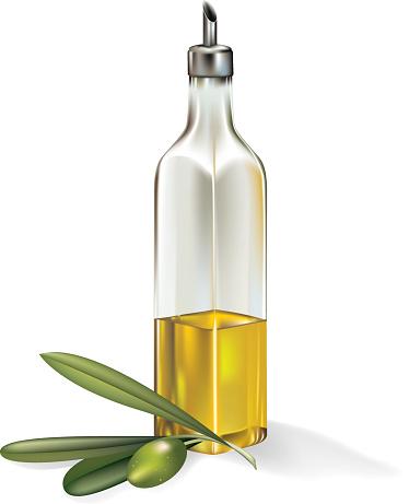 Olive Oil Clip Art, Vector Image Illustrations.