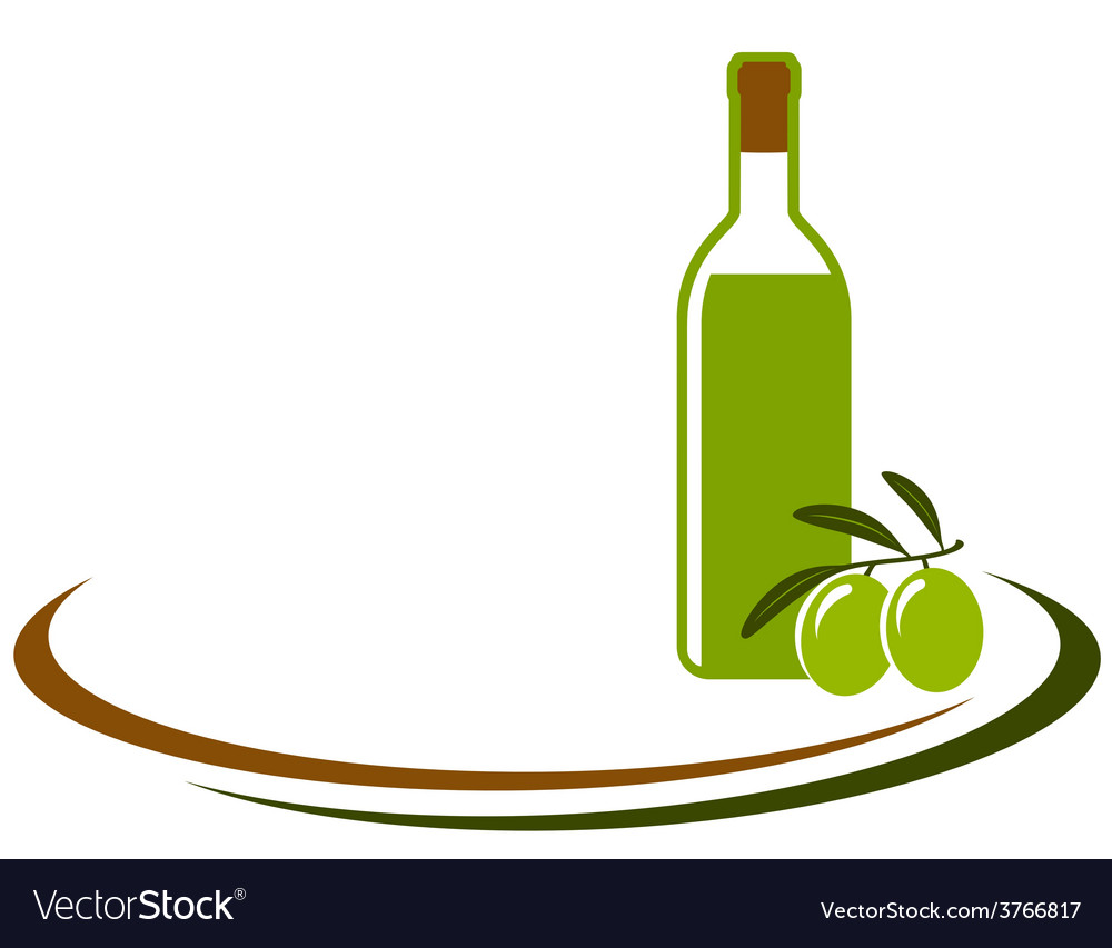 Background with olive oil bottle.