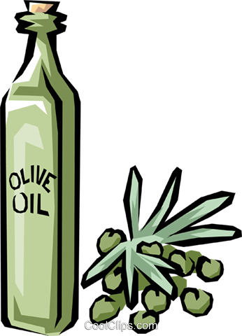 Olive oil Royalty Free Vector Clip Art illustration.