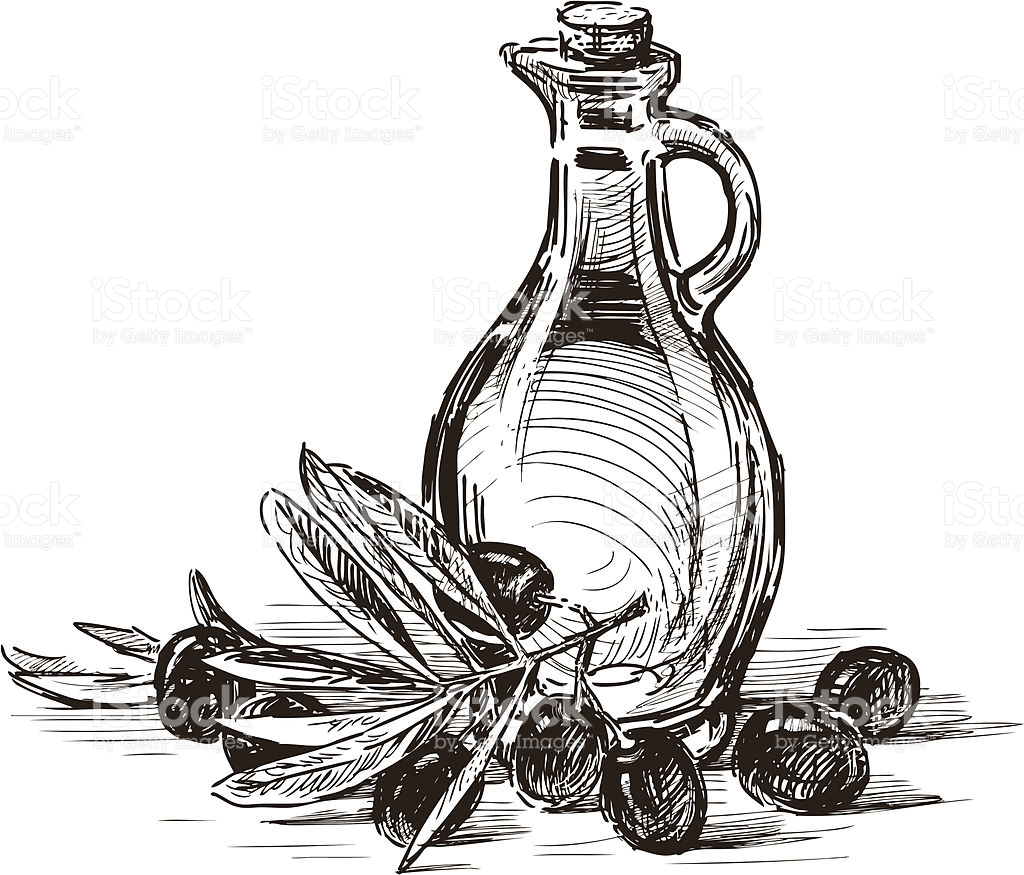 Olive Oil Clipart Black And White.