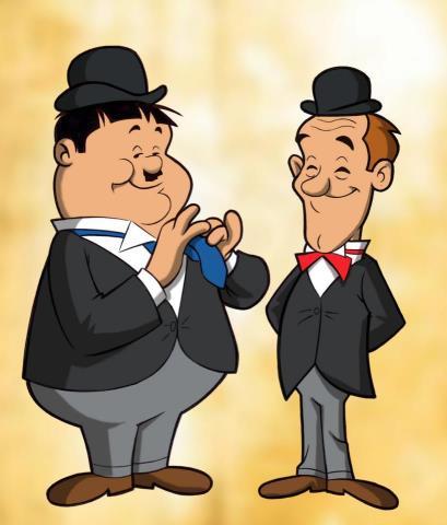 Stan Laurel i Oliver Hardy.