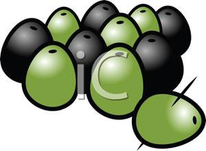 and Green Olives Clipart Picture.