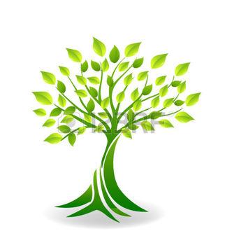 logo abstrait: Elégant icône vecteur d'arbres avec des variétés de.