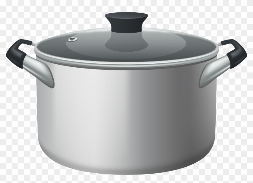 Stainless Steel Stock Pot With Glass Lid Png Clipart.