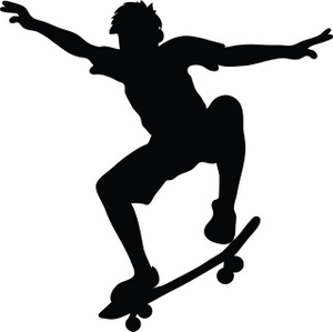 Skateboarder Clipart Image.