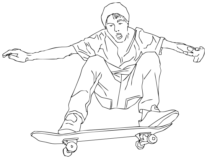 ollie skateboard.