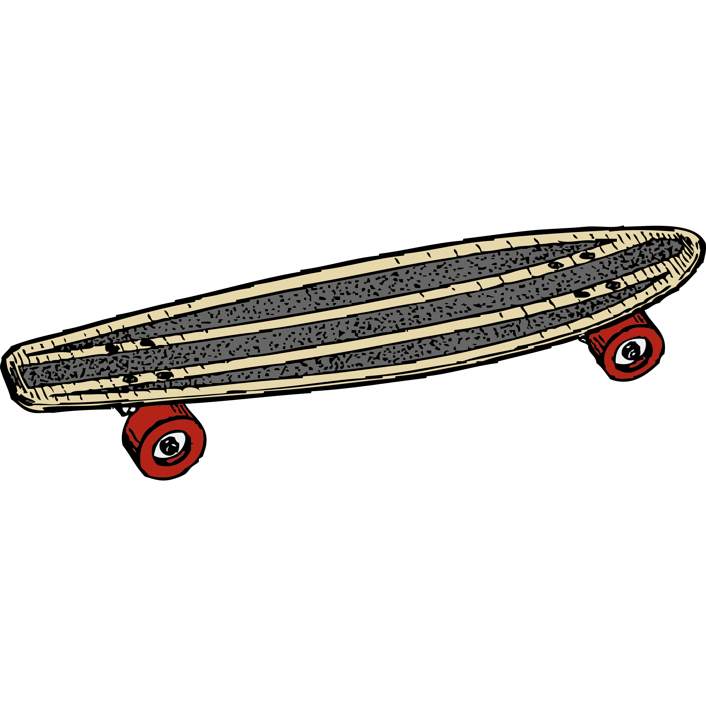 Ollie skateboarding concentrate clipart image.