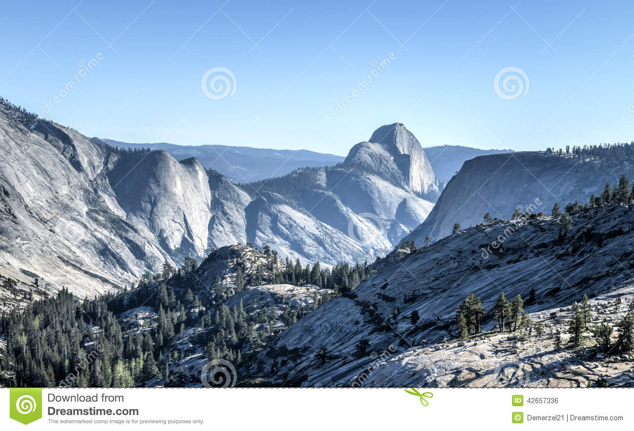 Olmsted Point, Yosemite National Park Stock Photo.