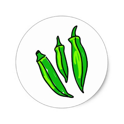 Okra And Tomatoes Clipart.