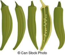 Okra Clipart Vector Graphics. 81 Okra EPS clip art vector and.