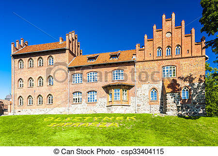 Stock Photography of Castle in Olsztynek, Warmian.