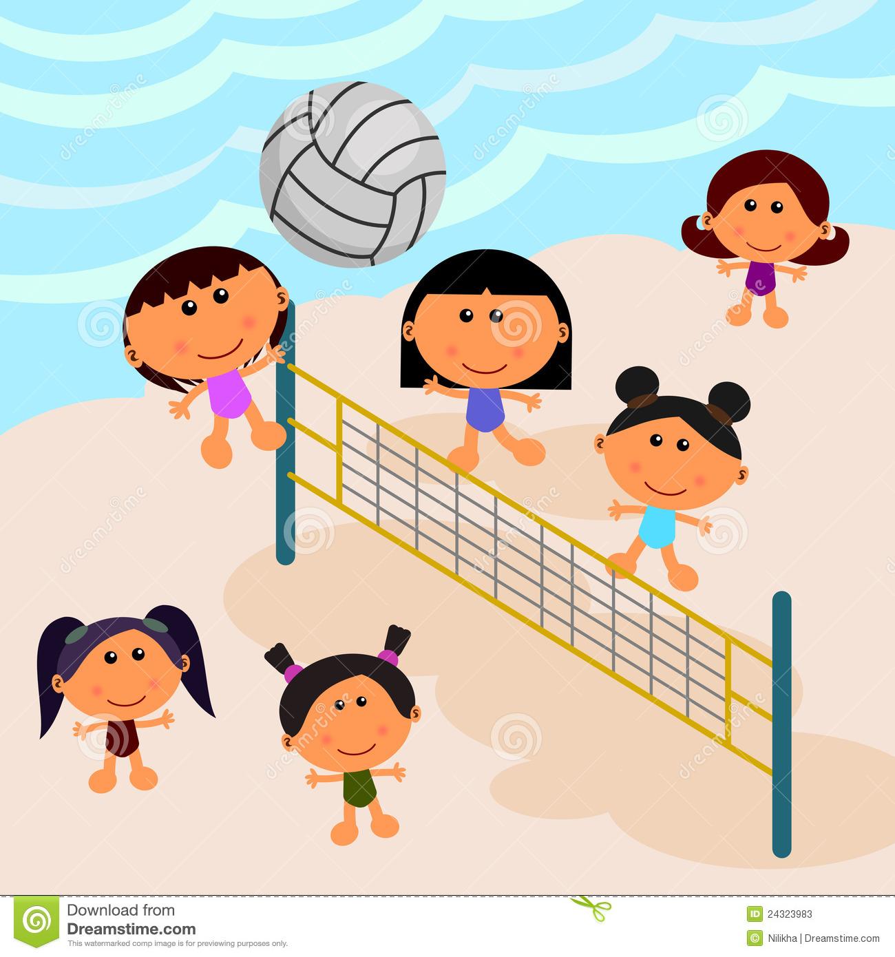 Cartoon Volleyball.