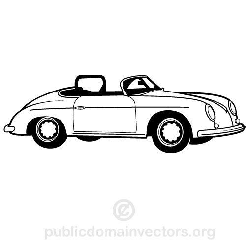 Cabrio Oldtimer Clipart.