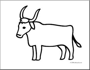 Oxen Clipart.