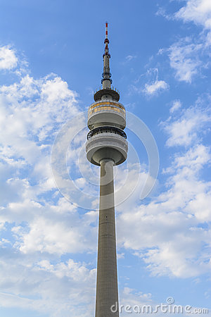 Television Tower In Munich, Germany Editorial Photo.