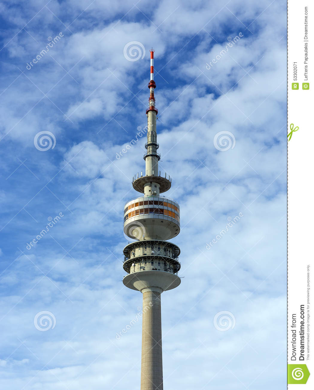 The Olympic Tower (Olympiaturm), Munich, Germany Stock Photo.