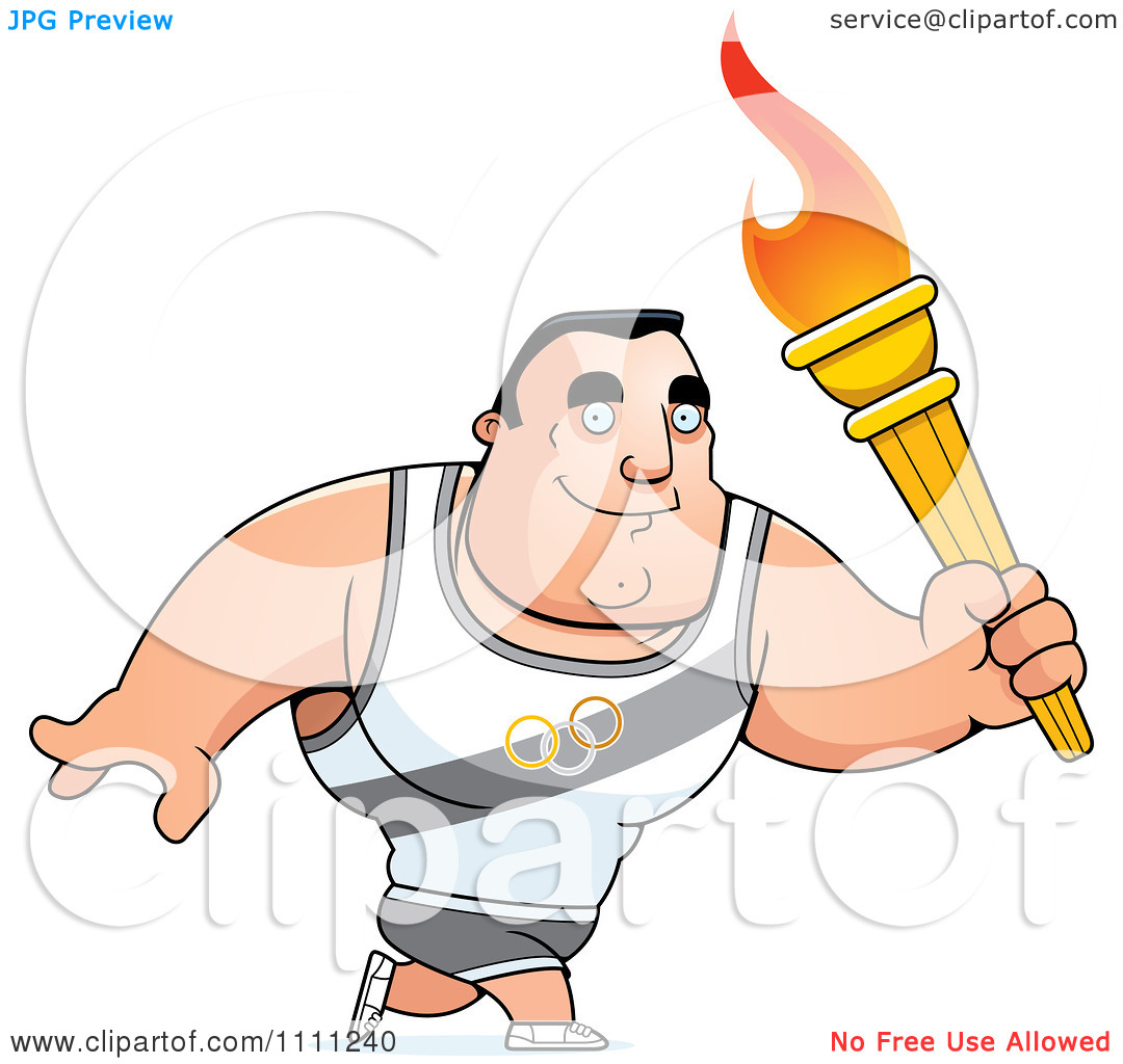 Clipart Buff Olympic Athlete.