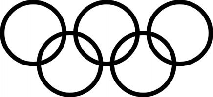 Olympics Clipart Black And White.