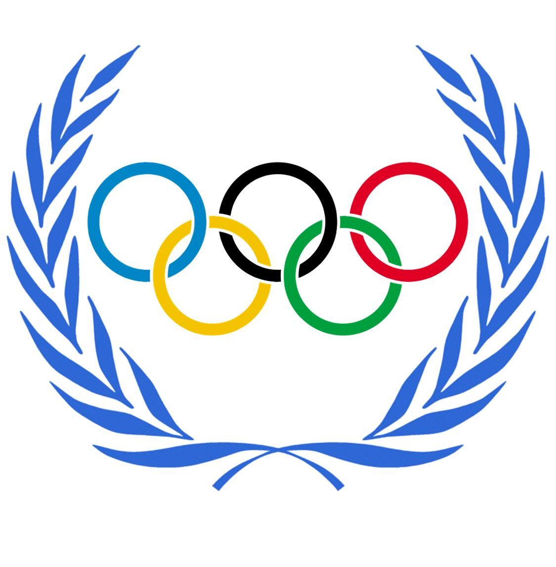 Olympic rings clip art.