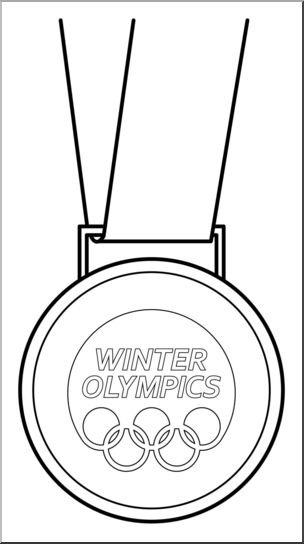 Winter Olympics Clipart Black And White.