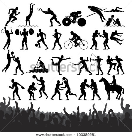 Olympic Silhouette Stock Photos, Royalty.
