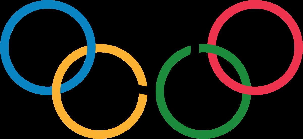 Olympic symbols.