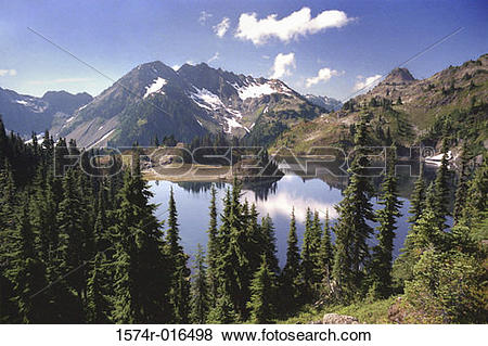 Pictures of Hart Lake Olympic National Park Washington USA 1574r.