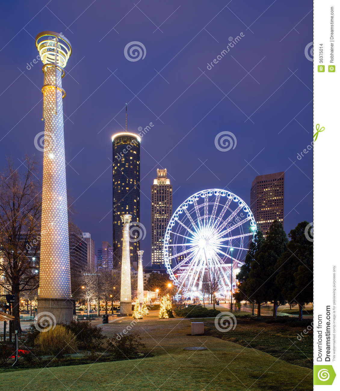 Centennial Olympic Park In Atlanta Stock Images.