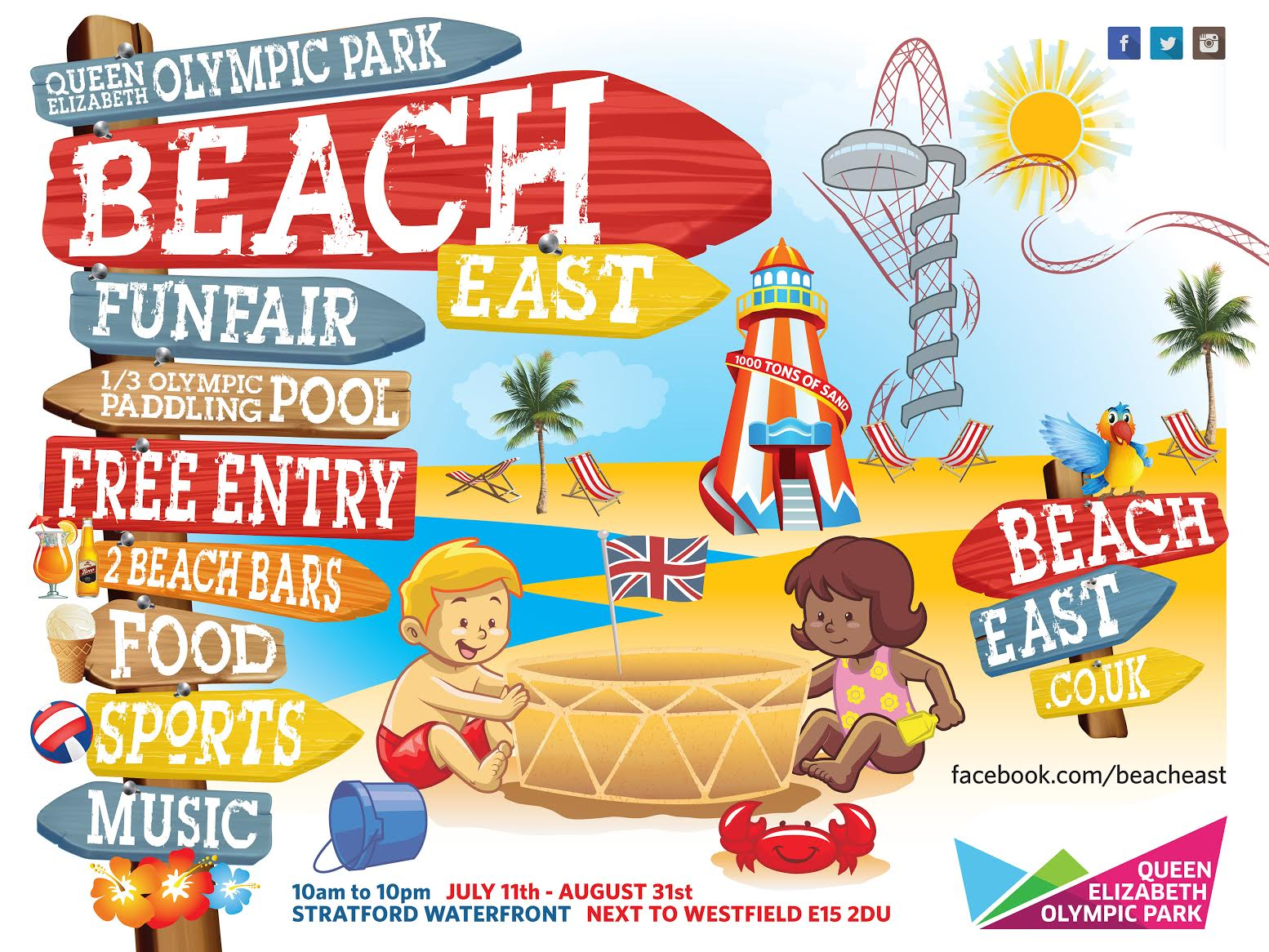 Loco LDN Beach at the Queen Elizabeth Olympic Park.