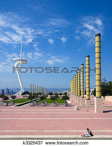 Picture of Communication Tower and Olympic Park, Barcelona Spain.
