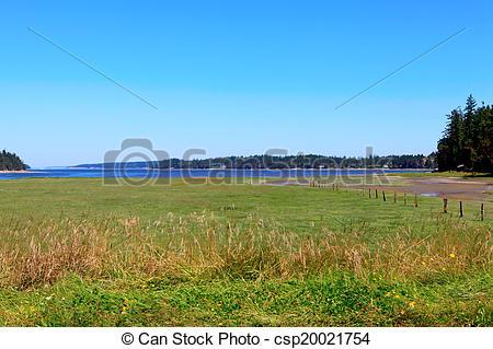 Stock Images of Marrowstone island. Olympic Peninsula. Washington.