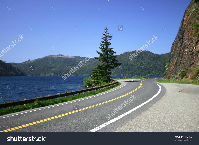 Hwy 101, Hurricane Ridge, Crescent Lake, Olympic Peninsula, Wa.