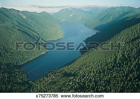 Stock Image of Lake Crescent, Olympic National Park, Olympic.