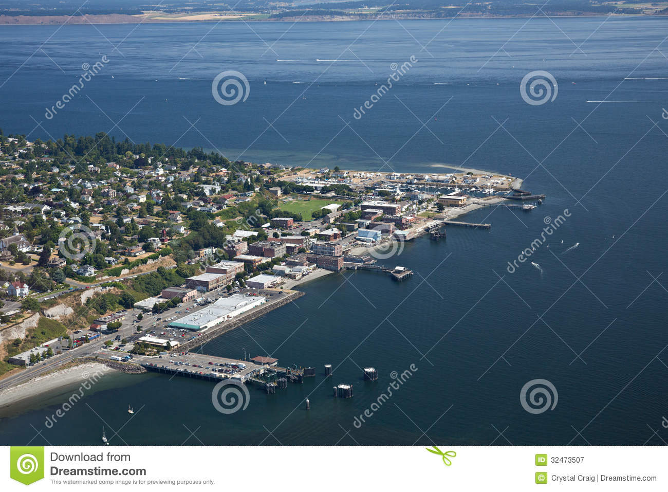 Port Townsend Olympic Peninsula Royalty Free Stock Photography.