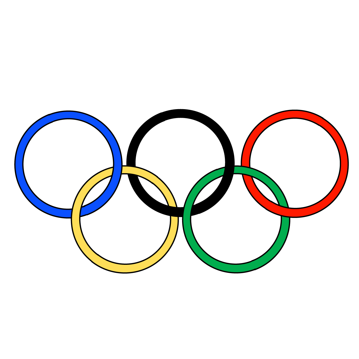 Olympic Rings PNG Transparent Images.