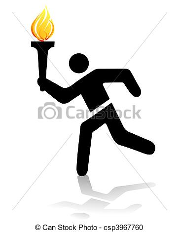 Stock Illustration of olympic torch csp3967760.