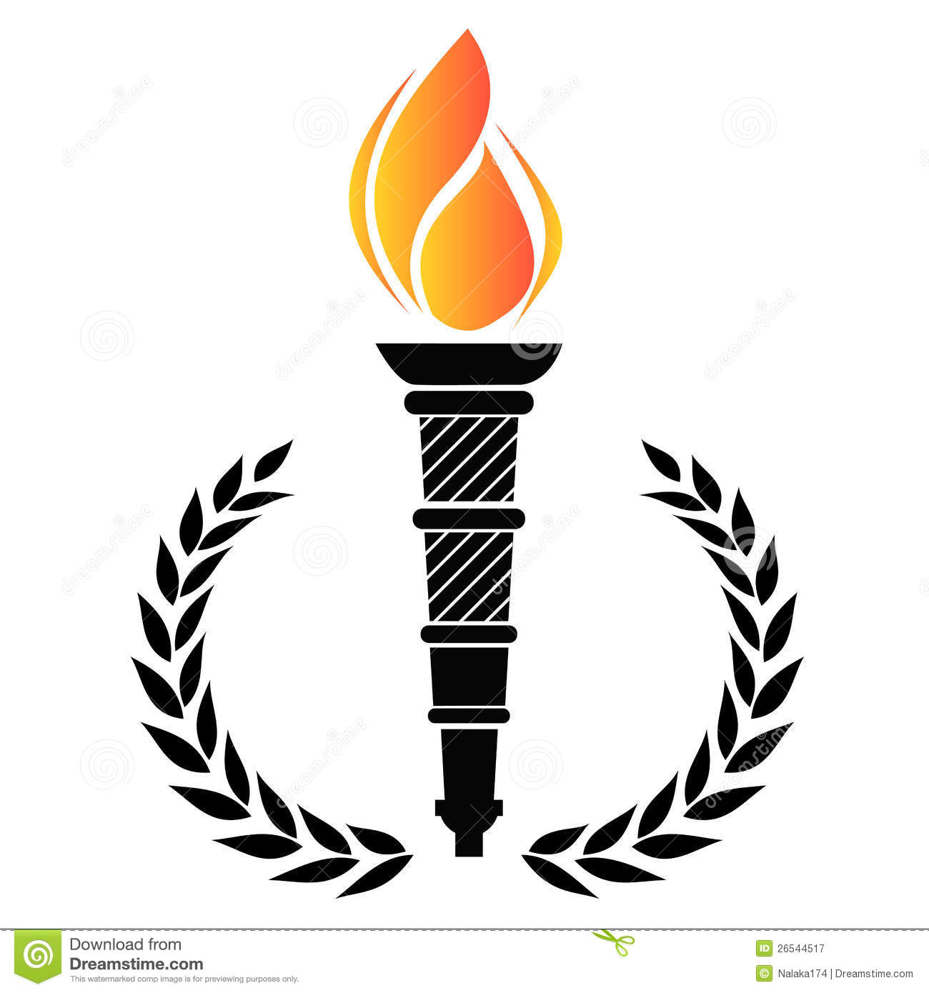 Olympic Torch Clipart Free.