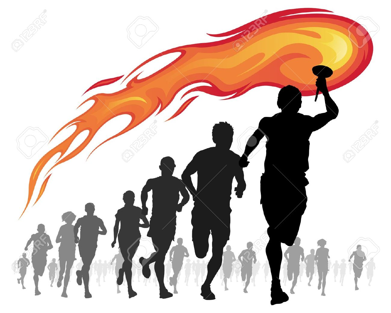 Olympics torch clipart.