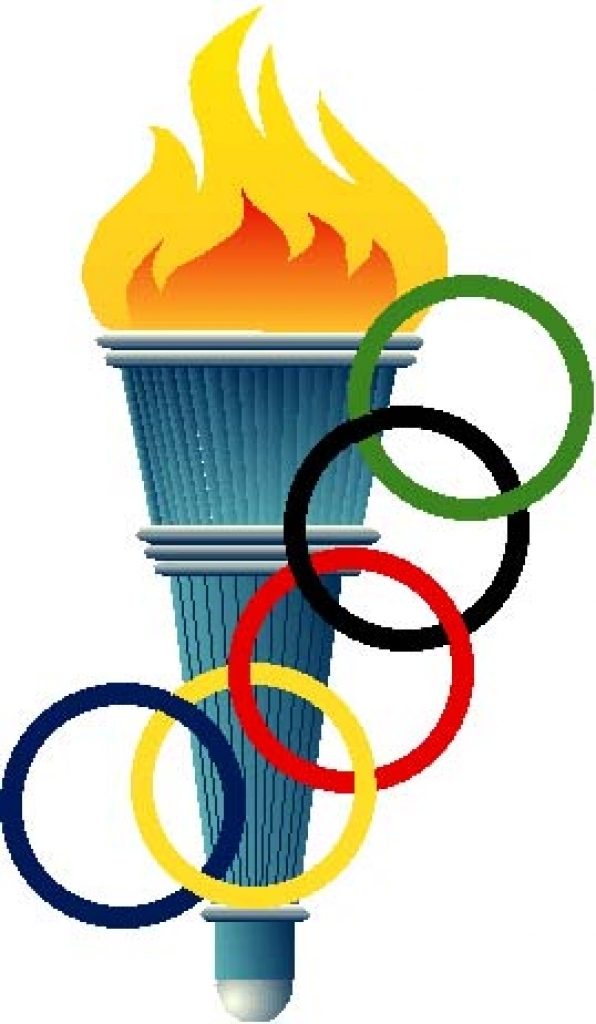 Olympic relay torch clipart