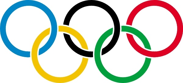Olympic Rings clip art Free vector in Open office drawing svg.