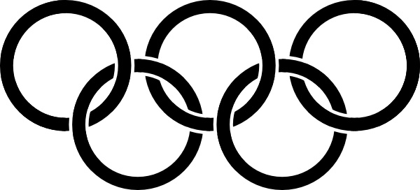 Olympic Rings Black clip art Free vector in Open office drawing.