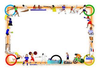 Olympics A4 page borders (SB1498).