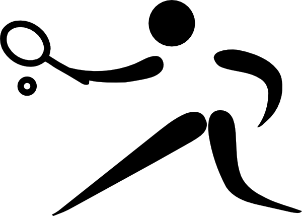 Olympic Sports Tennis Pictogram clip art (111197) Free SVG.