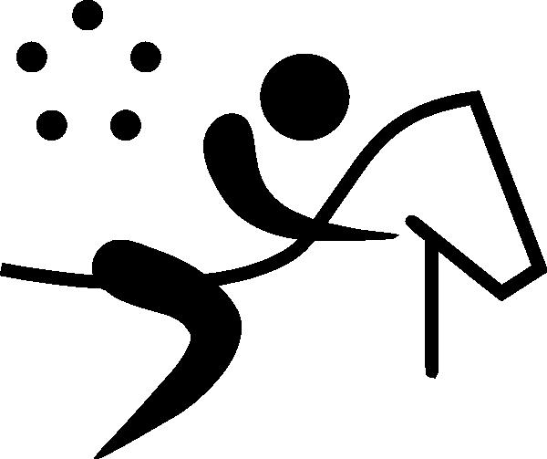 Olympic Sports Modern Pentathlon Pictogram clip art (121406.