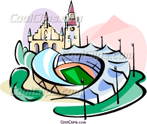 Germany Munich Olympic stadium Vector Clip art.