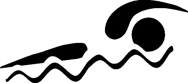 SWIM TEAM clip art black and white.