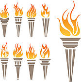Olympic Torch Clip Art.